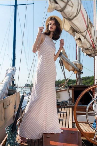 Платье макси в розовую полосочку 40263a