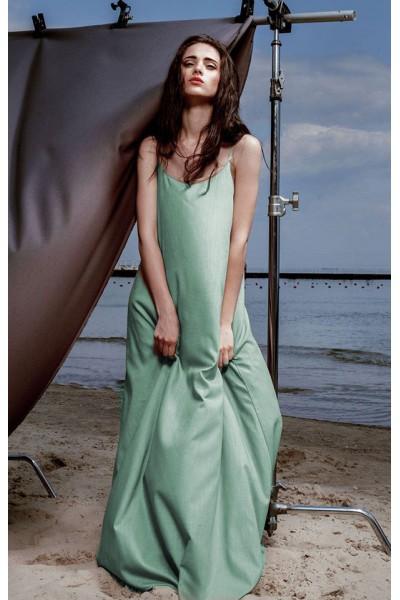 Платье-майка цвета мяты 40105