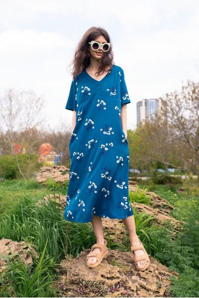 Длинное платье в цветочек 40725