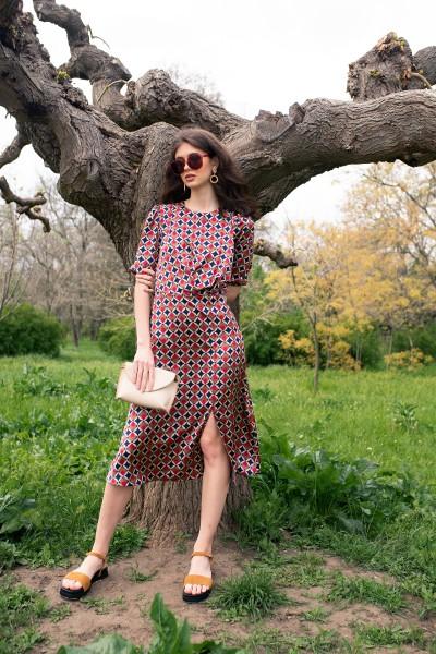 Платье с принтом миди 40734