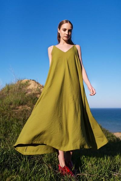 Платье-майка салатовое 40253