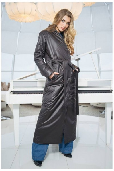 Пальто демисезонное кимоно черное 40378
