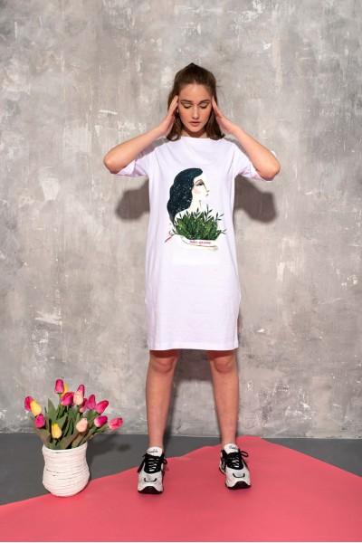 Платье-футболка авторский принт 40686