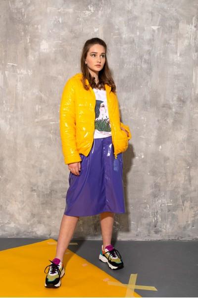 Куртка желтая глянцевая 40683