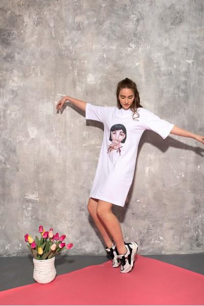Платье-футболка авторский принт 40687
