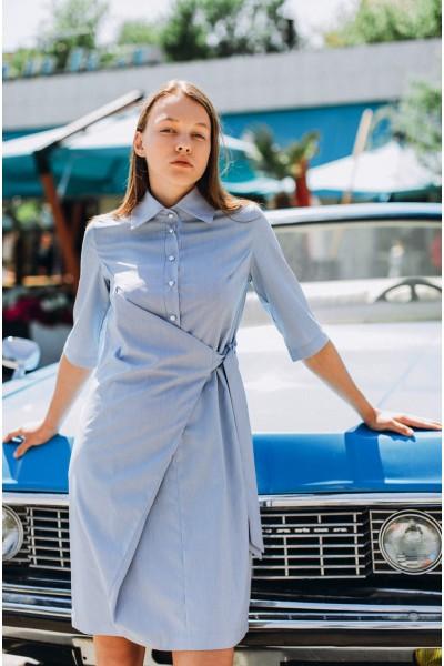 Платье-рубашка в мелкую полоску 40430