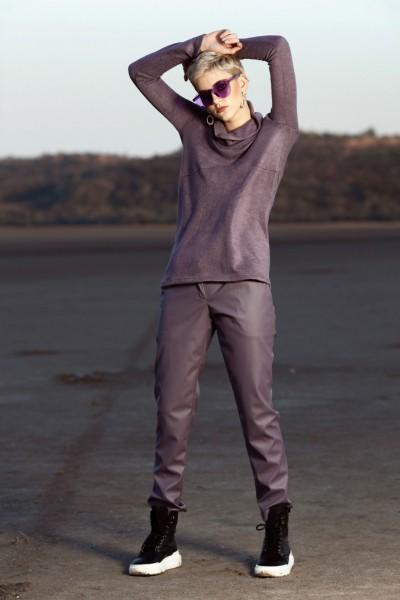 Свитер фиолетовый  40604