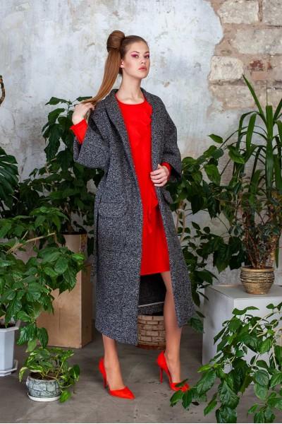Пальто серое кимоно 40534