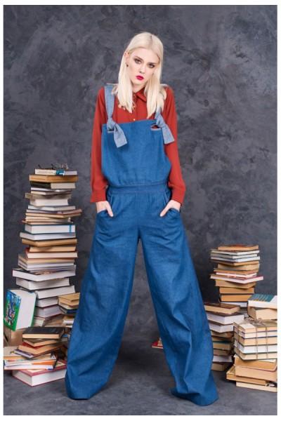 Комбинезон широкие брюки джинс 40173