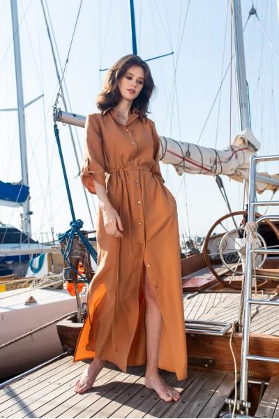Платье-рубашка макси NAVYSAND 40103