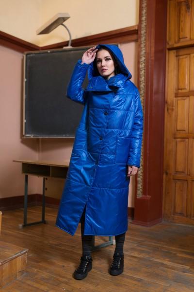 Пуховик одеяло синий 40349