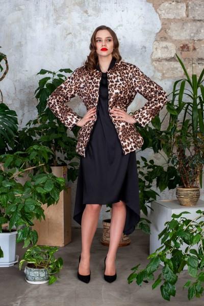 Куртка демисезонная принт леопард 40523