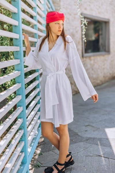 Платье-кимоно из льна 40556
