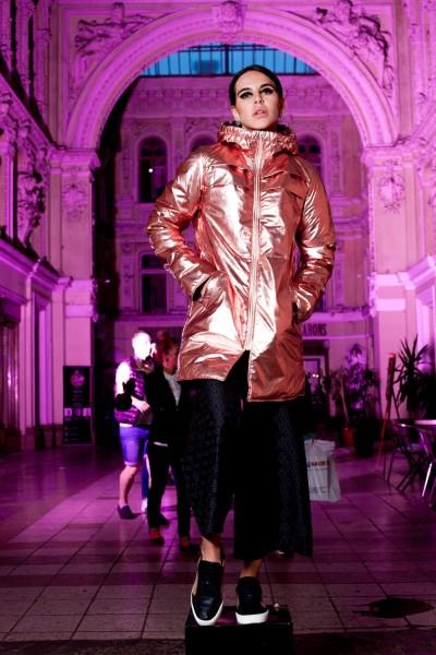 Куртка демисезон глянцевая на молнии 40370